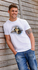 New Mens T-Shirt Tee Ice Age Movie Art Squirrel Funny Printed White Short Sleeve