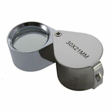HOT 30/40X Glass Magnifying Magnifier Jeweler Eye Jewelry Loupe Loop DE
