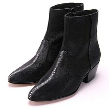 Men's Los Altos Full Genuine Stingray Rowstone Dress Ankle Boots Side Zipper