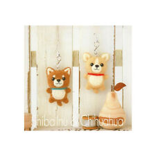 Hamanaka Japanese Wool Needle Craft FELT KIT - Dog Shiba Inu & Chihuahua straps