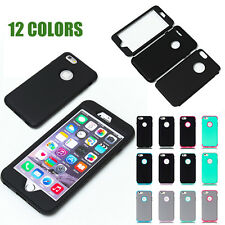 "FOR iPhone 6/7Plus 5.5""-HARD & SOFT RUBBER HIGH IMPACT ARMOR CASE HYBRID COVER"