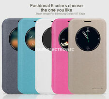 100%Nillkin Sparkle Smart View Window Leather Case Cover For Samsung Galaxy S002