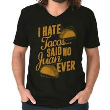 I Hate Tacos Nerdy Geeky Funny Mexican Food Humor Picture Gift V-Neck T-Shirt