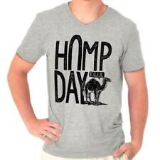 Hump Day Office Party Wednesday Camel Woot Funny Humor Gift V-Neck T-Shirt
