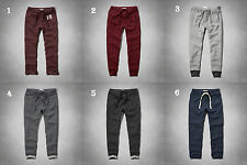 NWT Abercrombie&Fitch Mens Sweatpants Classic/Joggers Burgundy/Navy/Gray XS/S/L