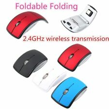2.4G Wireless Foldable Folding Optical Mouse Mice USB Receiver Mice Pad Mat DP