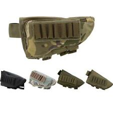 Outdoor Tactical Military Hunting Ammo Pouch Holder + Leather Pad Black V1E9