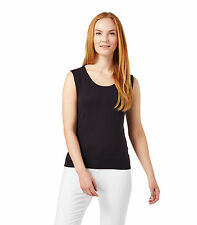 WoolOvers Womens Ladies Silk And Cotton Scoop Neck Sleeveless Jumper Sweater