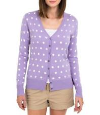 WoolOvers Womens Silk and Cotton Spot V Neck Warm Casual Cardigan Knitwear