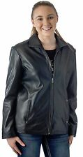 "Women's 26"" Classic Leather Jacket - Soft Genuine Leather Coat Reed Since 1950"