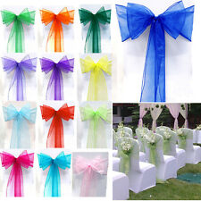 Organza Sashes Chair Cover Bow Sash WIDER FULLER BOWS Wedding Party Decorations