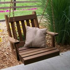 A & L Furniture 0.6m Traditional Cedar English Chair Swing with Chains. Free Del