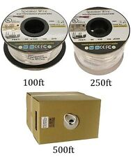 100ft-500ft 18AWG/2 Conductor UL CL2 In-Wall Home Car Audio Speaker Wire Cable