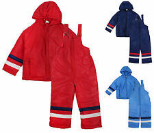 Boys Dungaree Salopettes & Jacket Snow Suit Ski Winter Set 6 Months to 4 Years