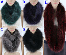 Womens Scarf Real Fox Fur Shawl Collar Cape Wrap Stole Winter Scarf Scarves Hot