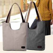 Vintage Ladies Canvas Handbag Bucket Tote Women Shoulder Bag - Free Shipping