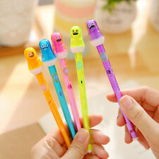 Ghost Head Design Black Ink Erasable Gel Pen Stationery Free Shipping