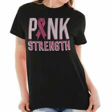 Breast Cancer Awareness  Pink Strength Pink Ribbon Beat Cancer T-Shirt Tee