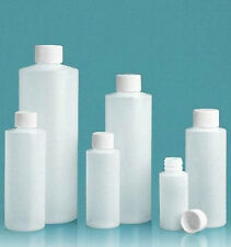 8 oz (240 ml) HDPE Plastic Bottles with CAPS (Lot of 100) You choose Cap Style