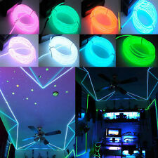 1/2/3/4/5M Flash Flexible Neon LED Glow EL Strip Tube Wire Rope Party Light V1
