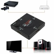 New 3 Port 1080P HDMI Splitter Cable Multi Switch Switcher For HDTV Hot DP