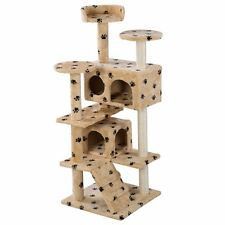 Cat Tree Tower Condo Furniture Scratch Post Kitty Pet House Play Beige Paws