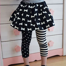 Kids Girls Toddlers Polka Dots Leggings Striped Tight Render Pants Trousers 1-9T