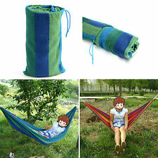 New Outdoor Swing Chair Hanging Camping Travel Sleeping Bed Patio Canvas Hammock