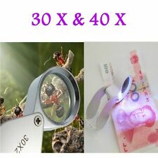 New 30X/40X Glass Magnifying Magnifier Jeweler Eye Jewelry Loupe Loop YH