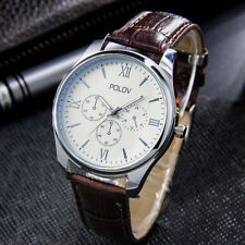 Style Luxury Wrist Watches Leather Band Stainless Steel Analog Quartz