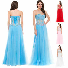 GK Strapless Sequins & Tulle Formal Evening Prom Party Dress Wedding Guest GOWN