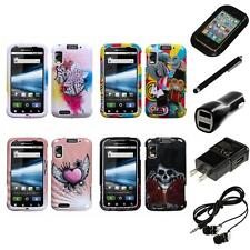 For Motorola Atrix 4G Design Snap-On Hard Case Phone Cover Headphones