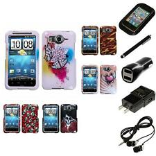 For HTC Inspire 4G Design Snap-On Hard Case Phone Cover Headphones