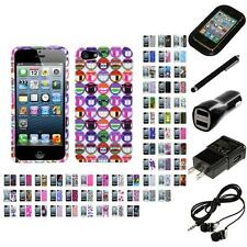 For Apple iPhone 5/5S/SE Design Snap-On Hard Case Phone Cover Headphones