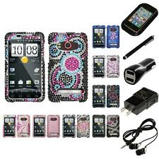 For HTC Evo 4G Diamond Diamante Bling Rhinestone Case Cover Headphones