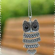 Vintage  Hot Long Chain Necklace bronze  New Retro  2016 Silver Owl Pendant