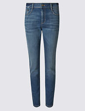EX M&S COLLECTION 6359 LADIES SKINNY MID RISE DENIM JEANS ADDED STRETCH