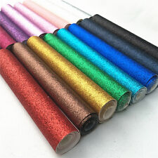Fine Glitter Fabric Roll Twinkle Leather Vinyl Craft Shoe Bag Applique Material
