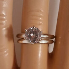 925 Sterling Silver Wedding Ring Set CZ Round Cut Engagement size 4-11 New