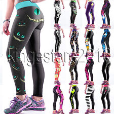 Womens YOGA Workout Gym Sports Pants Leggings Fitness Stretch Pencil Trousers