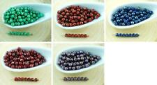 100pcs Picasso Round Czech Glass Beads Small Spacer 3mm