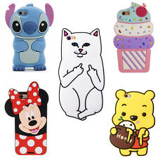 3D Cute Cartoon Soft Silicone Phone Case Cover Back Skin For IPhone Samsung Gift