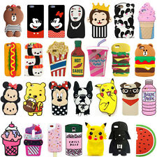 3D Cute Food Plant Animals Cartoon Soft Silicone Case Cover Back Skin For iPhone