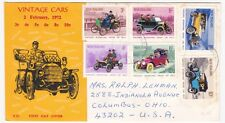 NEW ZEALAND 1972 VINTAGE CARS CACHETED FDC
