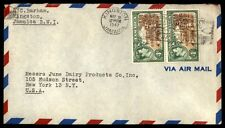 Kingston Jamaica 8d rate airmail cover to New York City US 1947