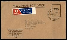Wellington New Zealand airmail cover to Middlesex England UK