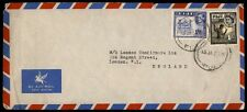Fiji airmail cover the London UK airmail cover commercial with royalty issue