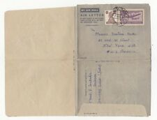 India Surat to US NeW York Nov 17 1951 Uprated commercial Aerogramme