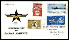 1958 Ghana Accra inauguration airways colorful cachet cover