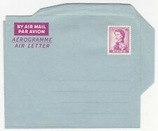 FIJI QEII 7D PURPLE & BLUE MINT POSTAL STATIONERY AEROGRAMME AIR LETTER